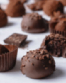 Delicious handmade chocolates on a Cocoa & Grapes Chocolate and Wine Tasting Walking Tour Carcassonne France.