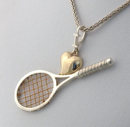 Silver & Gold Pendant (click 4 details) #206