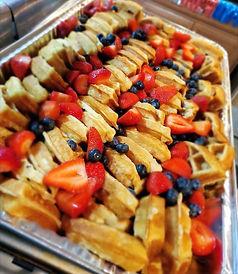 Waffles w/ fresh fruit