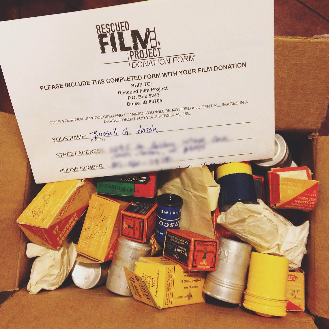 The Rescued Film Project Contribute
