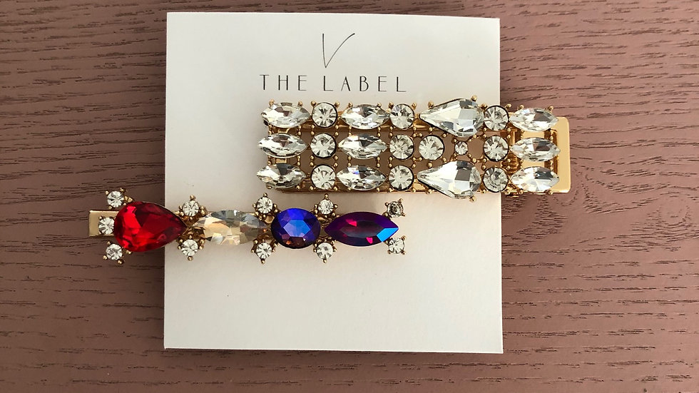 V The Label Hair Clips 2 Pack