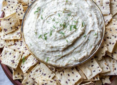 Lemon Dill White Bean Hummus (V/GF/DF/SF)
