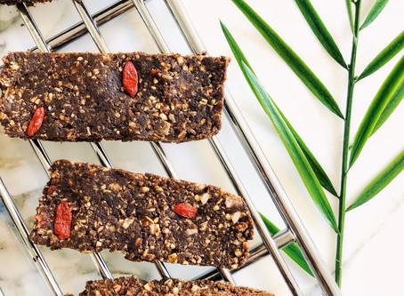 Chocolate Tahini Protein Bars (GF/V)