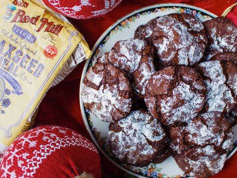 Chocolate Crinkle Cookies (gluten free + vegan)