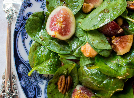 Endless Summer Salad with Fig, Balsamic & Sun-Dried Tomato Cheese