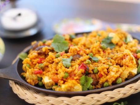 """The """"Peagan"""" Diet Featuring Spanish Veggie Paella (GF/V/SF)"""