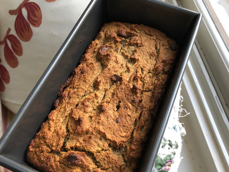 Nutty Chocolate Chunk Banana Bread (paleo + vegan)