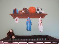 Kid's sport mural