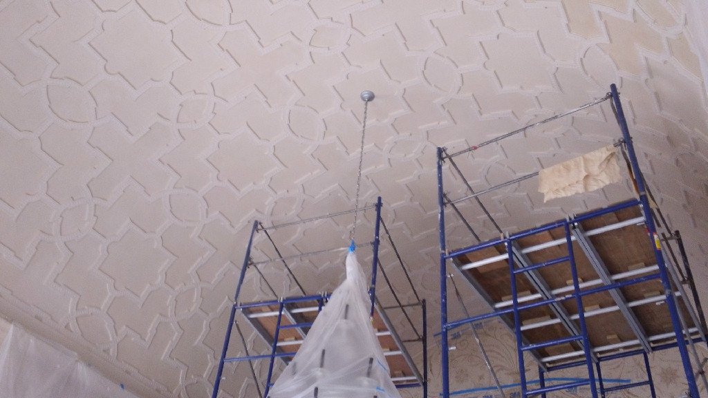 glaze barrel ceiling - before