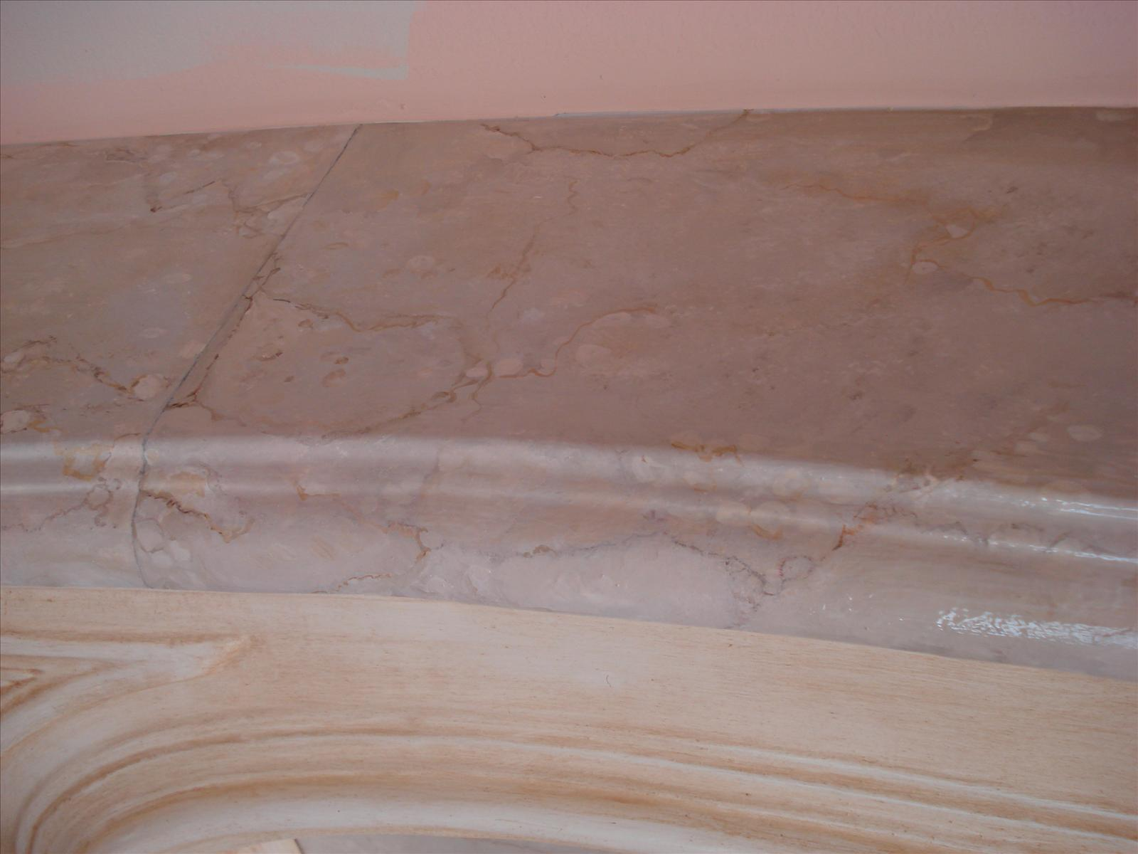 painted marble detail
