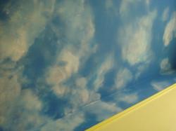 Cloud ceiling mural