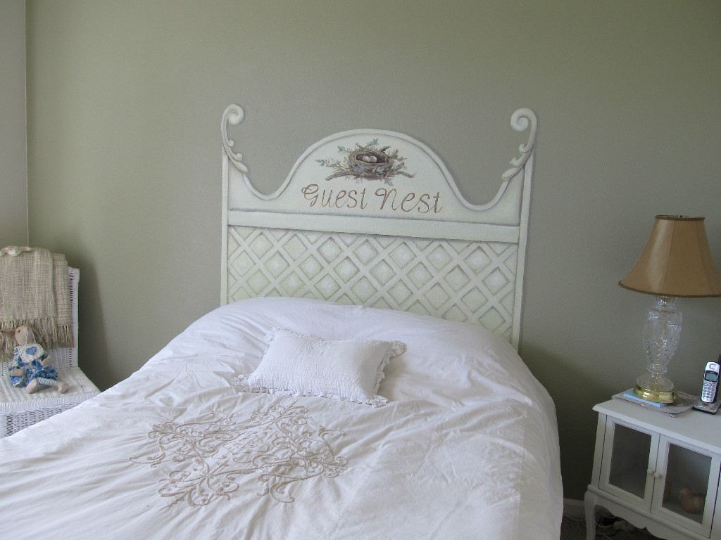 Country style faux headboard