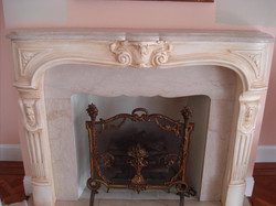 painted marble mantle