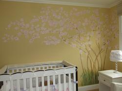 child's room blossom mural