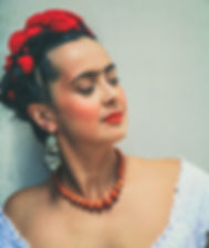 Rebecca Grant as Frida - side profile