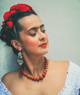 Rebecca Grant as Frida - side profile