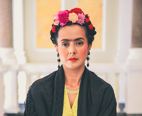 Rebeca Grant as Frida in V&A Museum