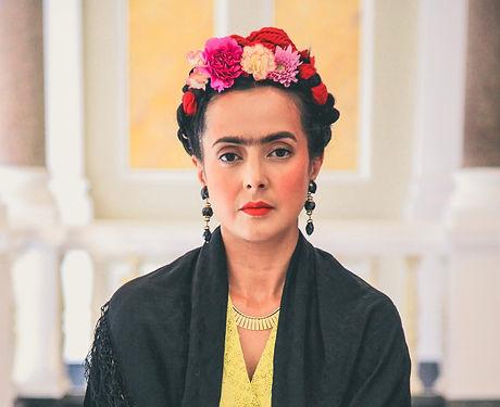 Rebeca Grant as Frida in V&A Museum