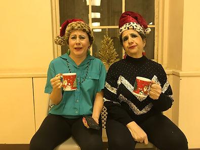 Patty and Patty the Yule Log