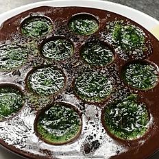 Escargots au confits de poireaux - Snails with leek confit