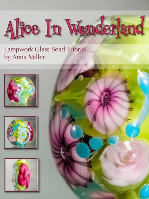 Alice In Wonderland, step by step lampwork beadmaking tutorial