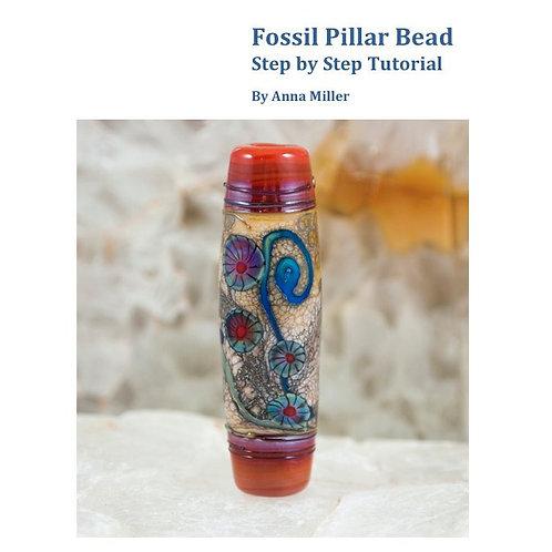 Fossil Pillar, step by step lampwork beadmaking tutorial