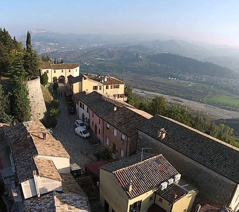 Vista dall'alto del borgo