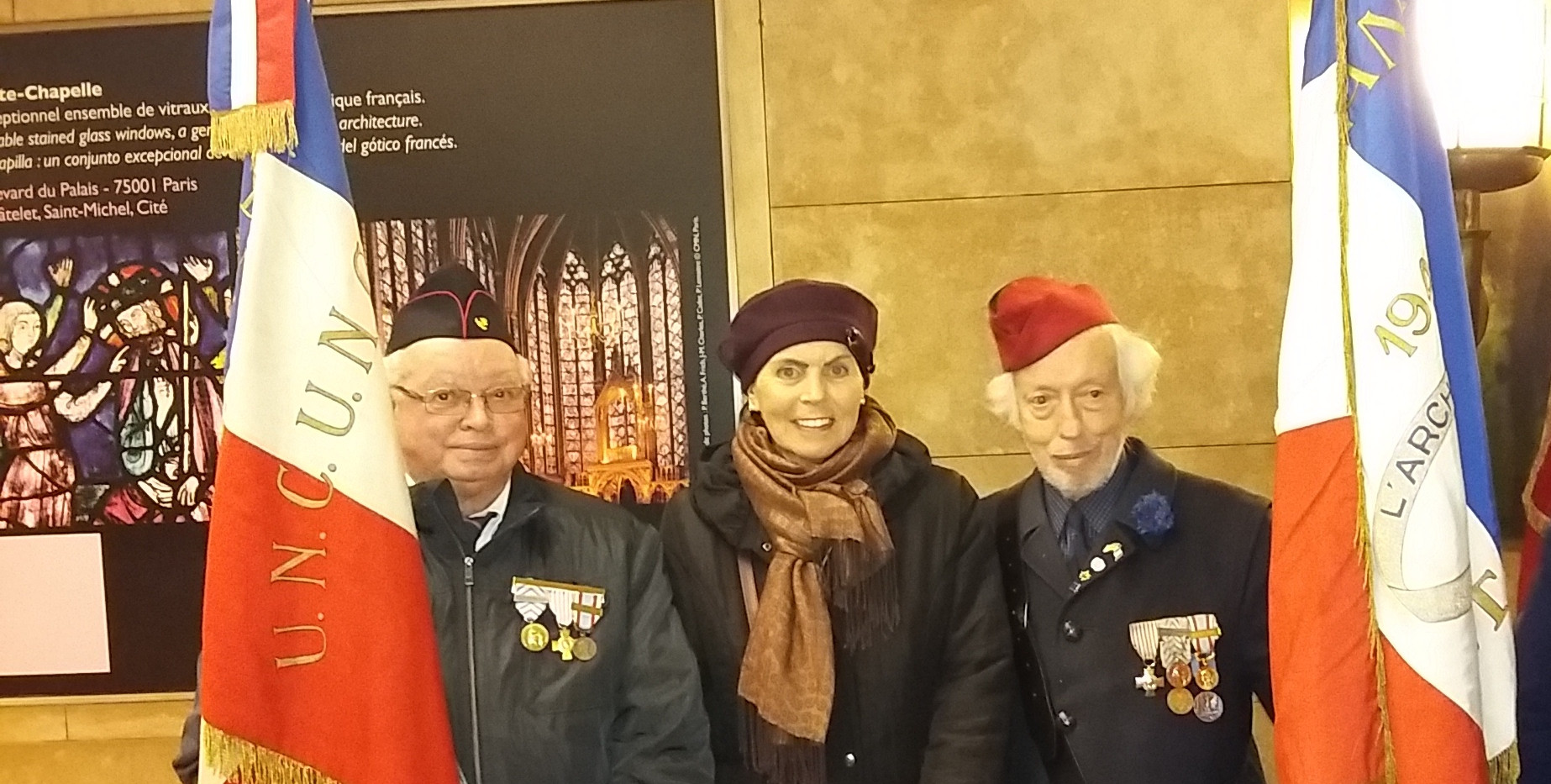 Veterans ravivage de la Flamme Arc de Tr