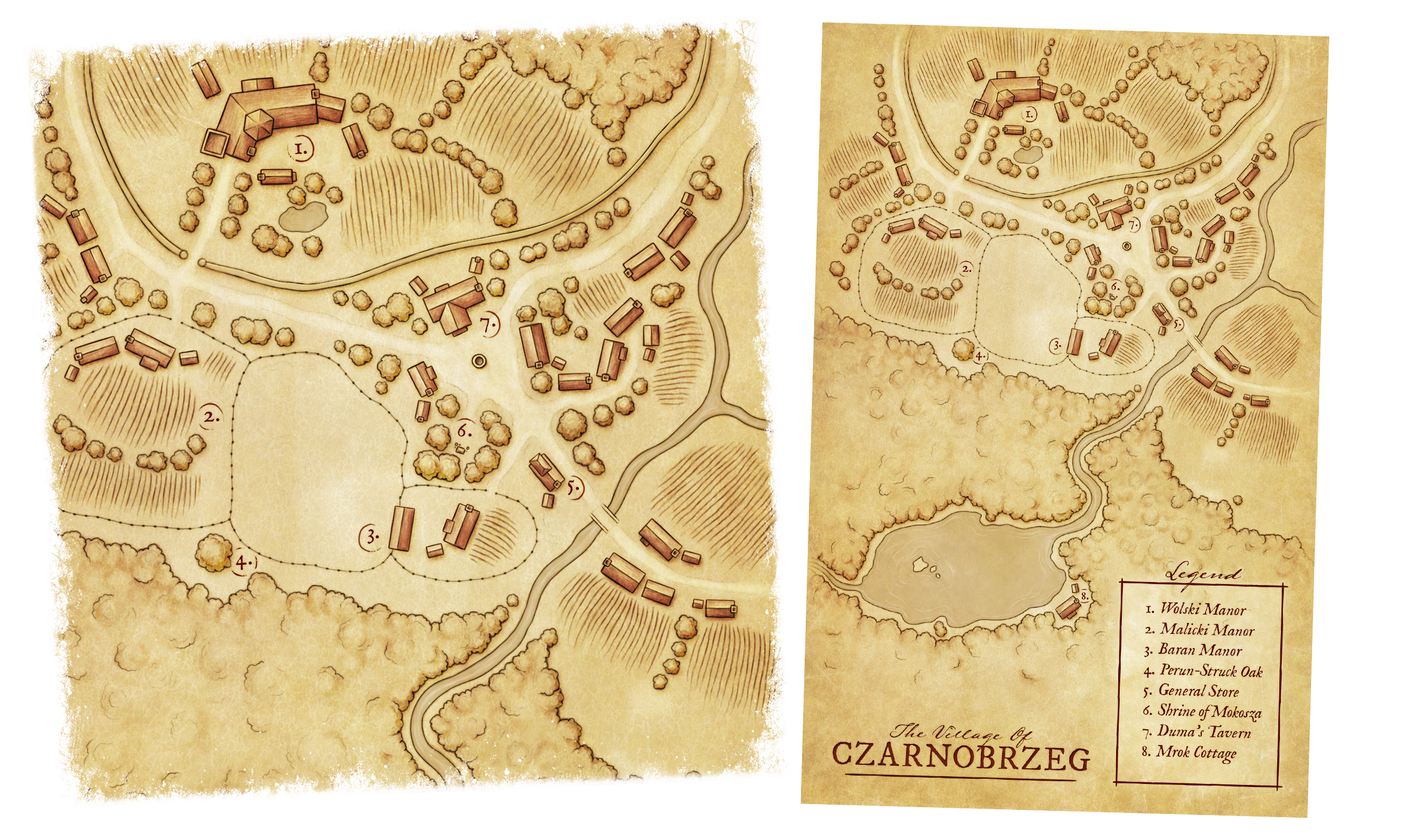 Czarnobrzeg Village