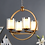 Thumbnail: Brass and White Metal and Glass Chandelier