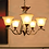 Thumbnail: Gold Mild Steel and Glass Heulwen Chandelier