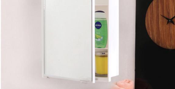 Acrylic White 4 Compartment Bathroom Cabinet