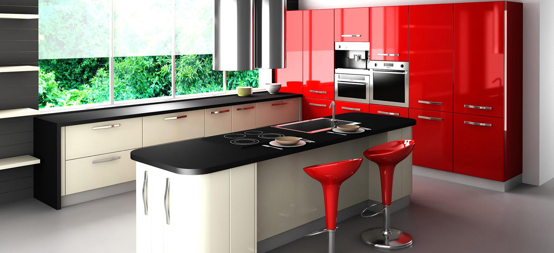 Fantastic-Modern-Kitchen-Design-Red-Cabi