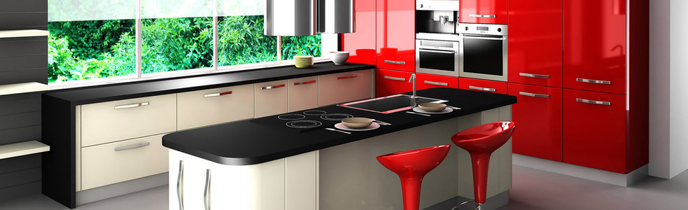 Fantastic-Modern-Kitchen-Design-Red-Cabi
