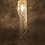 Thumbnail: Gold Brass and Crystal Chandelier