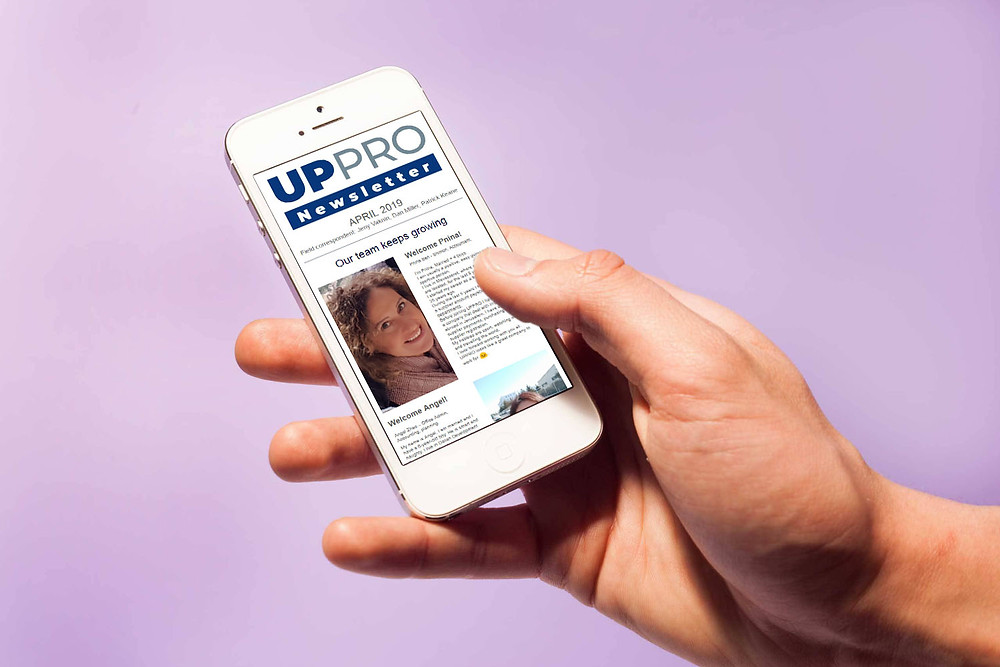 UPPRO's short newsletter, used as an in-house employee newspaper,