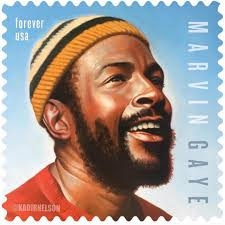 Marvin Gaye on his way to a USPS postage stamp