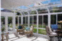Glass Curved Eave Sunroom