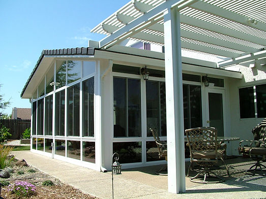 Sunroom with Attached Patio Cover