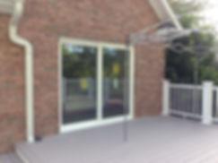 New sliding door installed