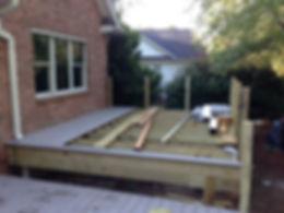 New deck with composit deking
