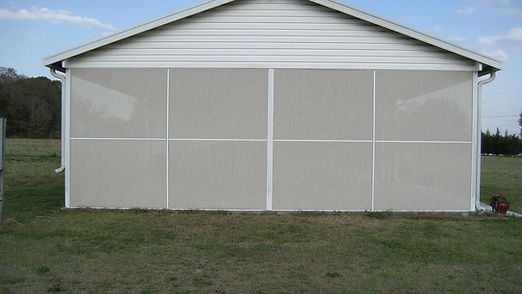 White Solar Block Screen