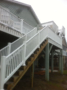 new composite railing on deck and stairs