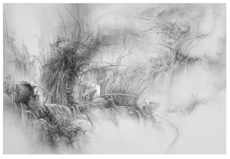 landscape34- pencil on paper- 30x22 inch