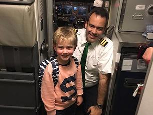Met de piloot!