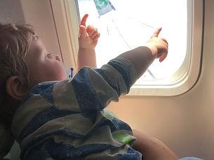Voor het eerst in het vliegtuig