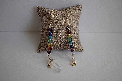 Pendulum Earring - Chakras