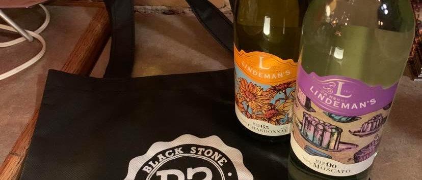 Black Stone Bag & Wine Pack