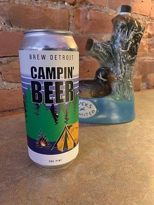 Brew Detroit Campin Beer Ale 16oz