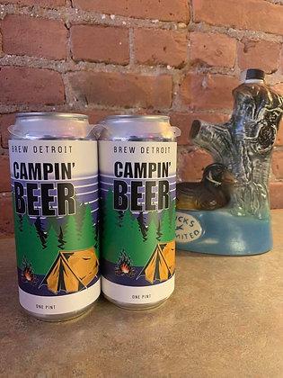 Brew Detroit Campin Beer Ale 16oz 4 Pack